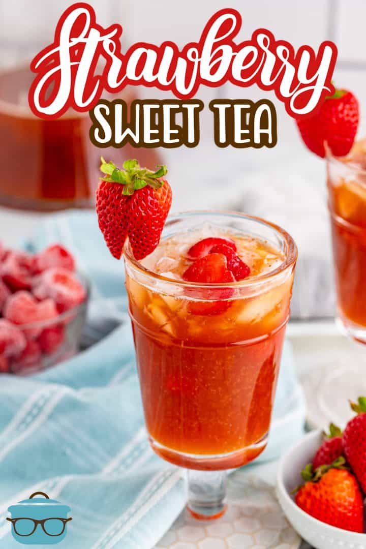 Strawberry Sweet Iced Tea recipe from The Country Cook.