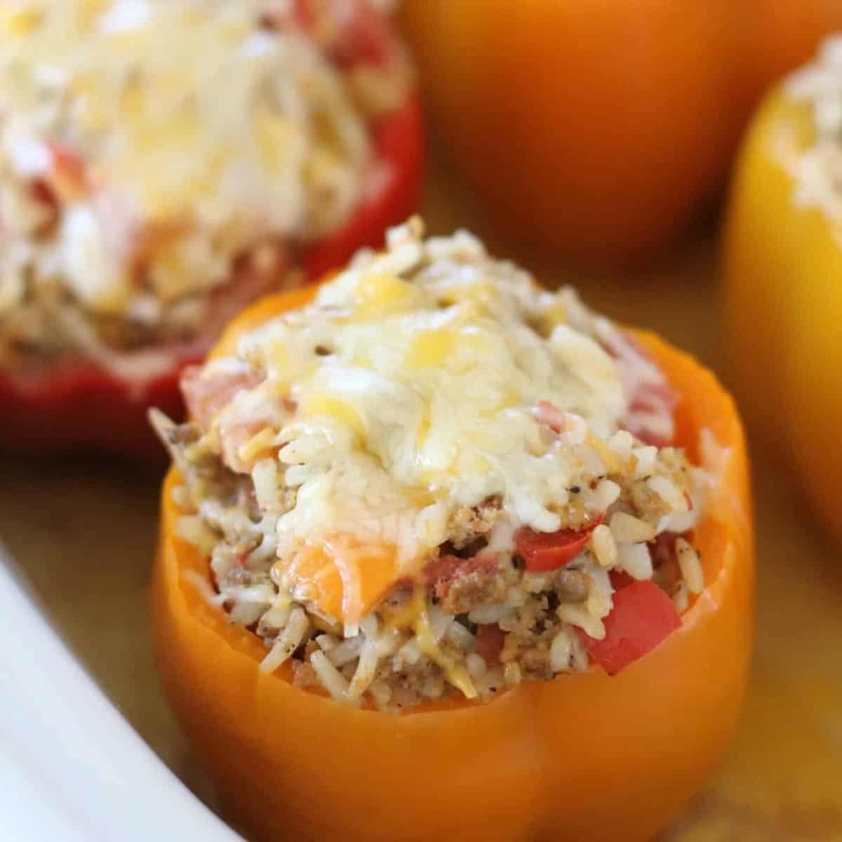 bell peppers, lean ground beef, cheese, pimiento cheese, Rotel