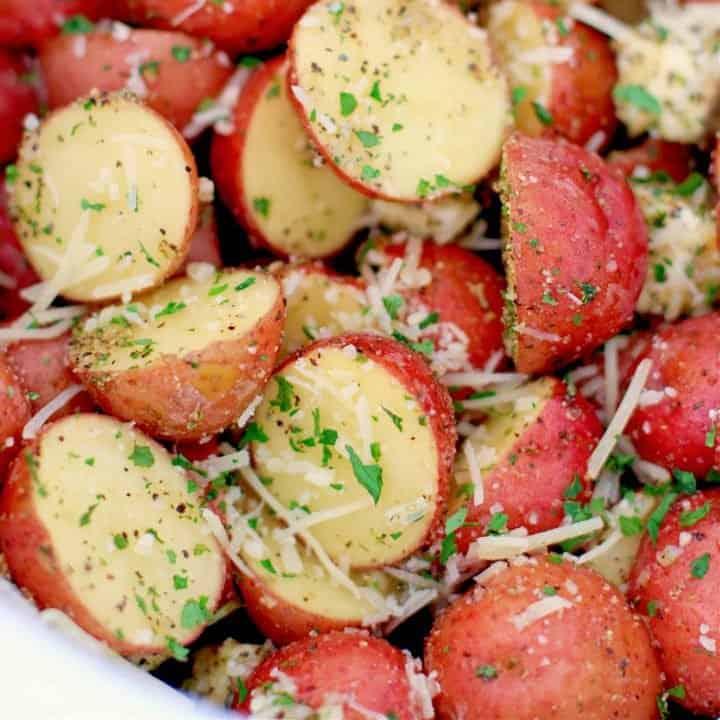 Crock Pot Garlic Parmesan Potatoes recipe