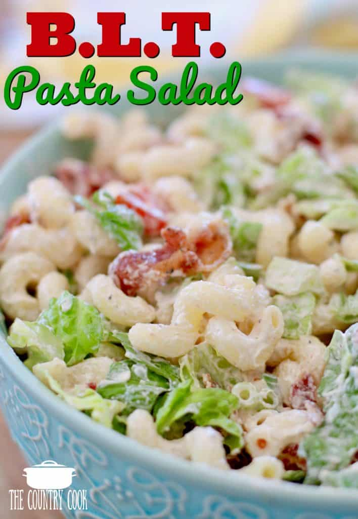 BLT Pasta Salad recipe from The Country Cook