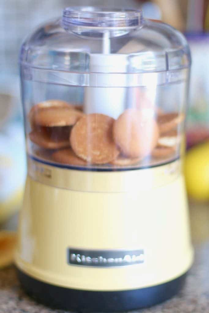 Nilla wafers in a food processor