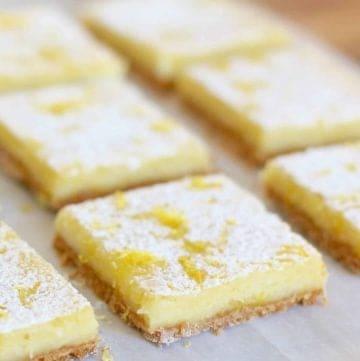 Creamy Lemon Bars with Nilla wafer crust