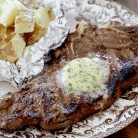 Best Steak marinade with steakhouse garlic butter