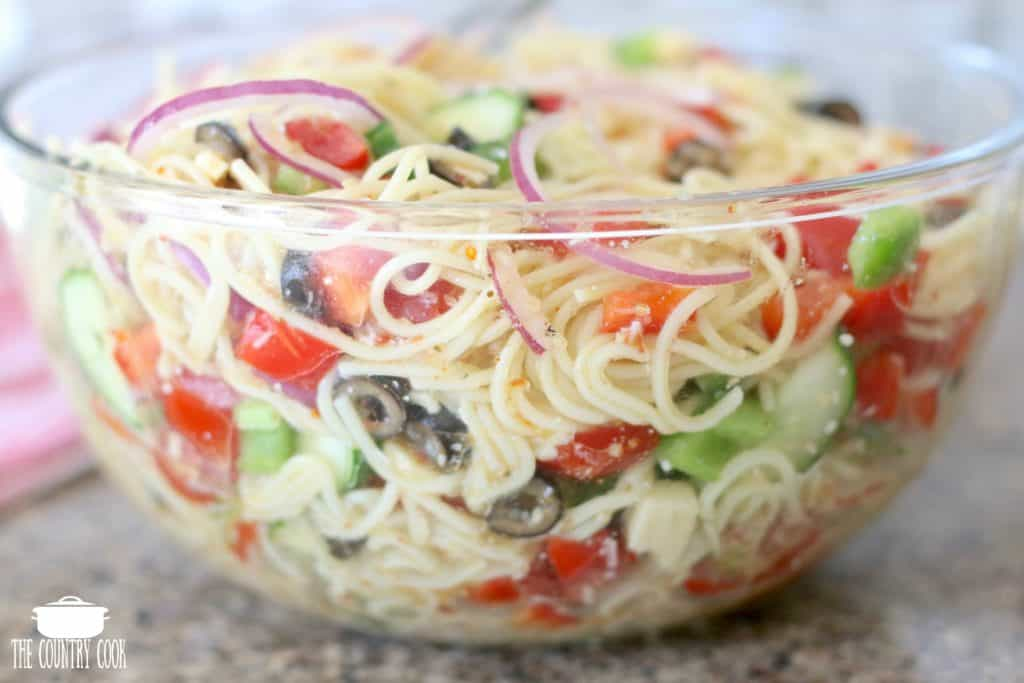 Summer Spaghetti Salad Video The Country Cook