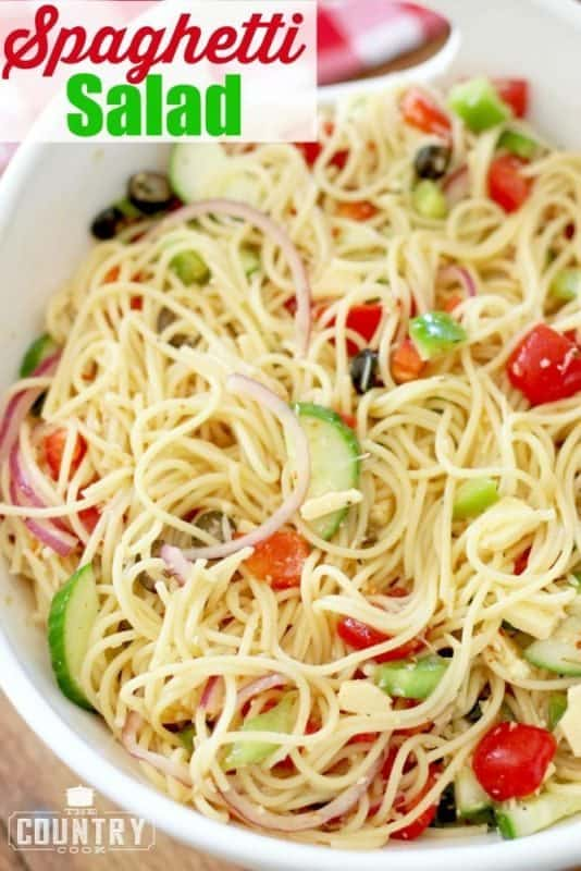 Spaghetti Salad recipe from The Country Cook