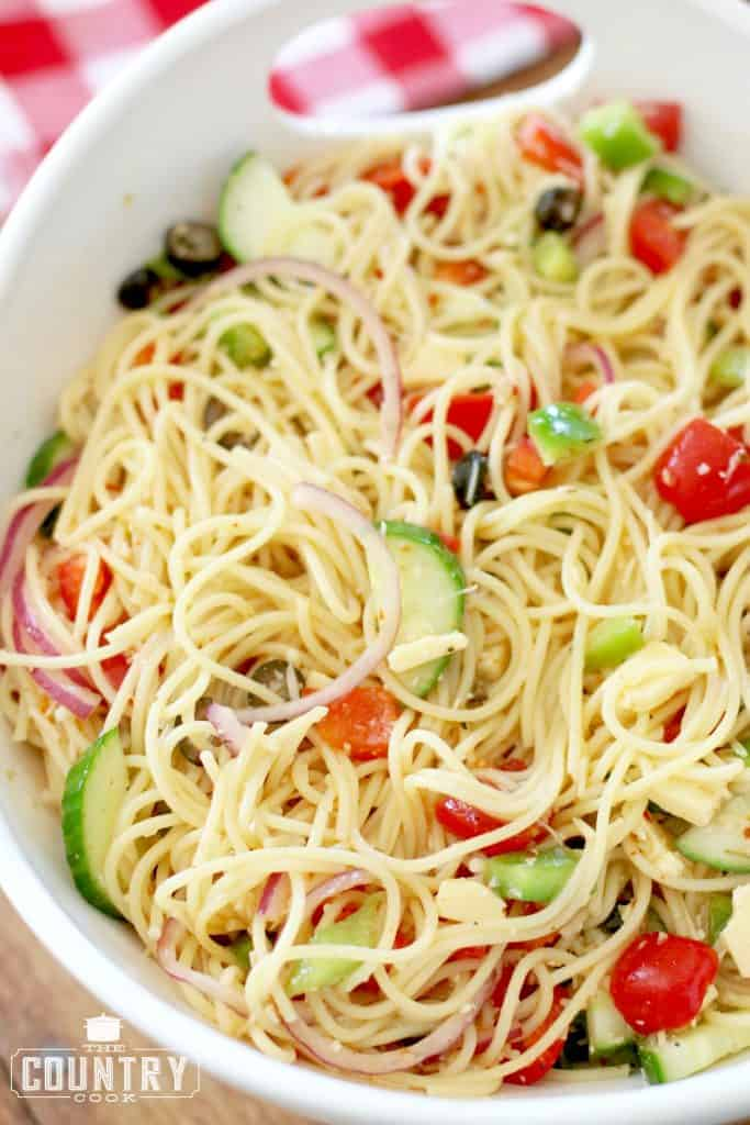 spaghetti salad - the country cook