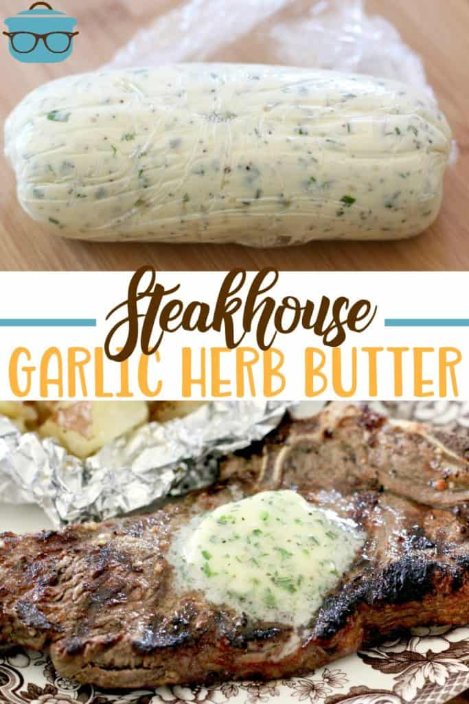 The Best Steakhouse Garlic Butter recipe from The Country Cook