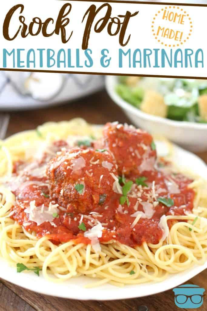 Crock Pot Homemade Italian Meatballs and Marinara Sauce recipe from The Country Cook