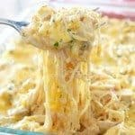 Creamy, Cheesy Chicken Spaghetti