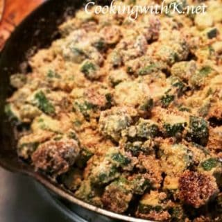Southern Fried Okra ~ Weekend Potluck #228