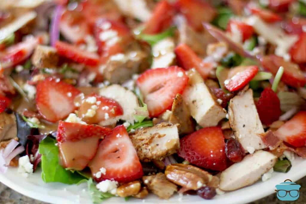 Strawberry Fields Salad, closeup