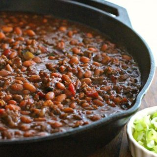 Southern BBQ Baked Beans ~ Weekend Potluck #225