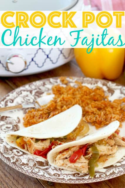 CROCK POT CHICKEN FAJITAS recipe from The Country Cook