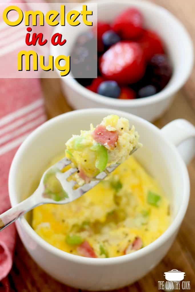 Microwaveable Omelet in a Mug
