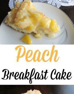 Peach Breakfast Cake ~ Weekend Potluck #233