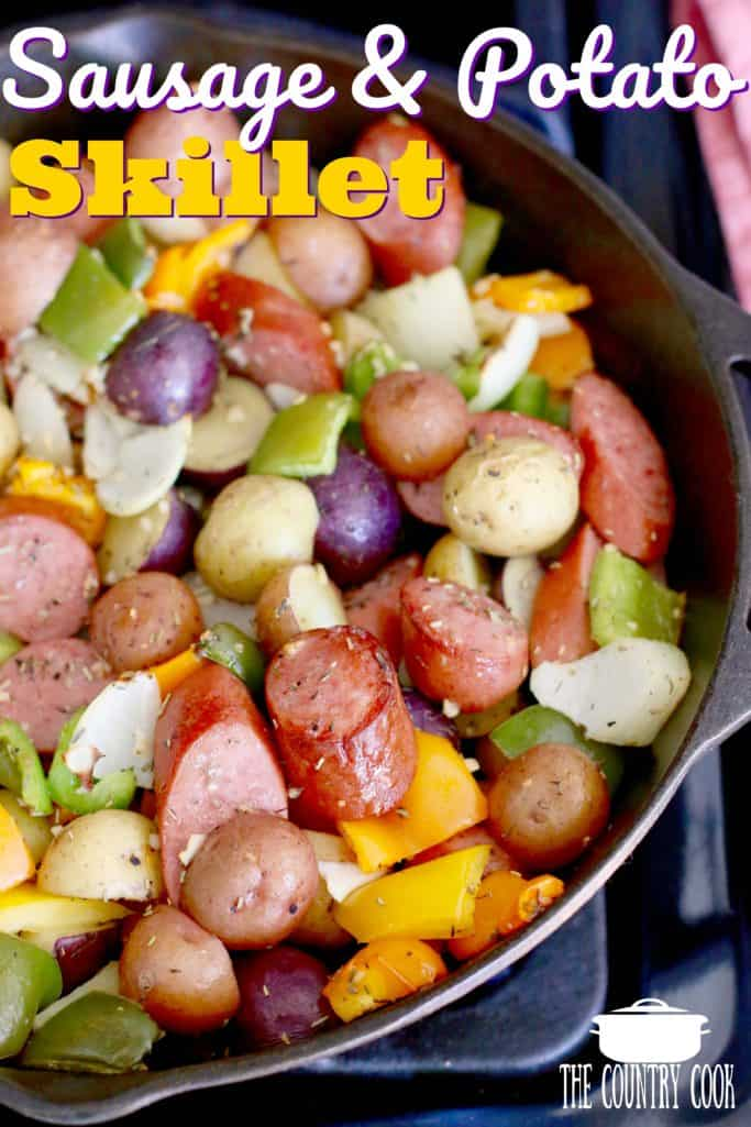 One Pan Seasoned Sausage and Little Potatoes
