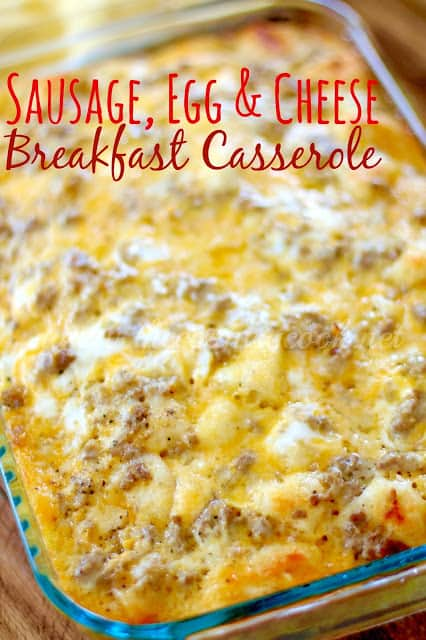 Sausage Egg Amp Cheese Biscuit Casserole The Country Cook