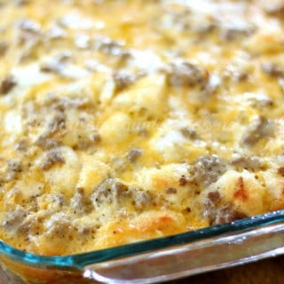 Sausage, Egg & Cheese Biscuit Casserole