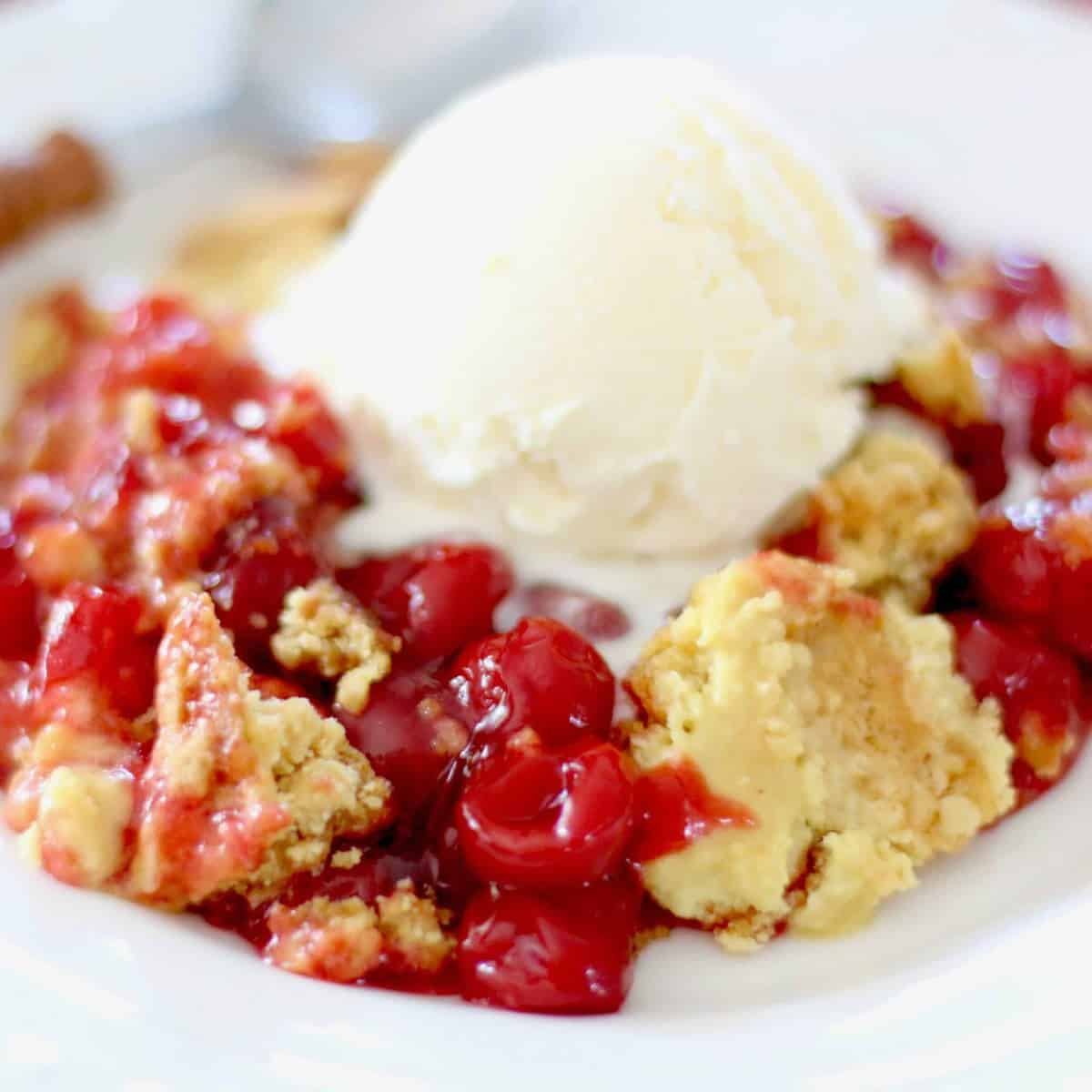 Easy Cherry Dump Cake Video The Country Cook
