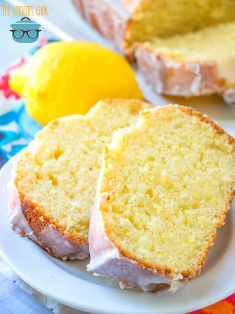 Copycat Starbuck's Lemon Loaf slices