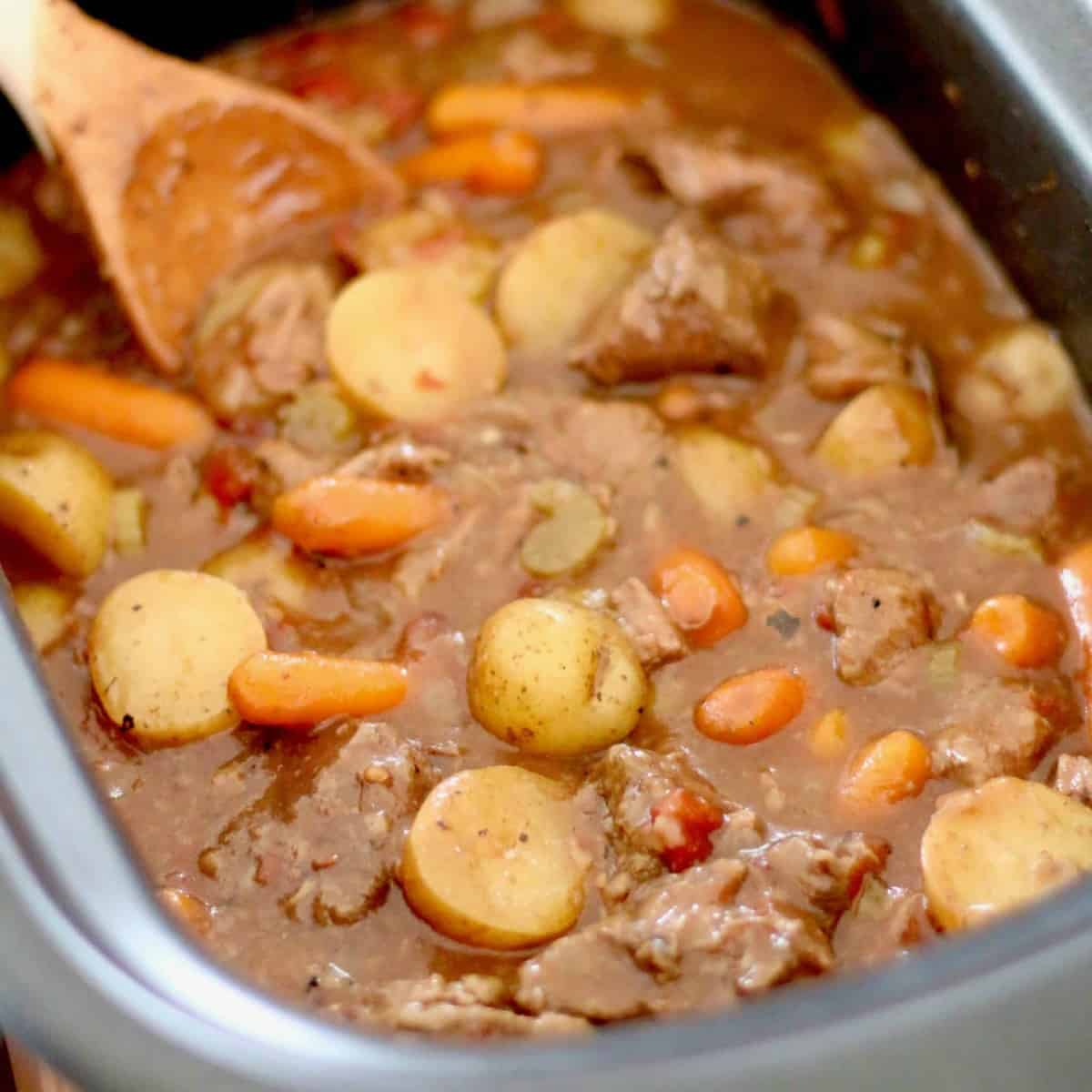 The Best Crock Pot Beef Stew Video The Country Cook