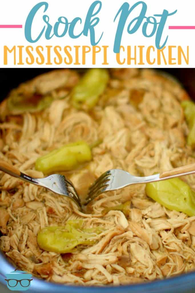 Easy Crock Pot Mississippi Chicken recipe from The Country Cook