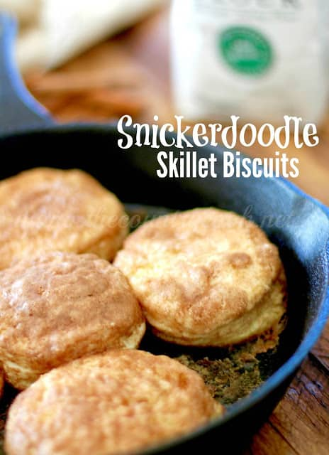 Snickerdoodle Skillet Biscuits The Country Cook