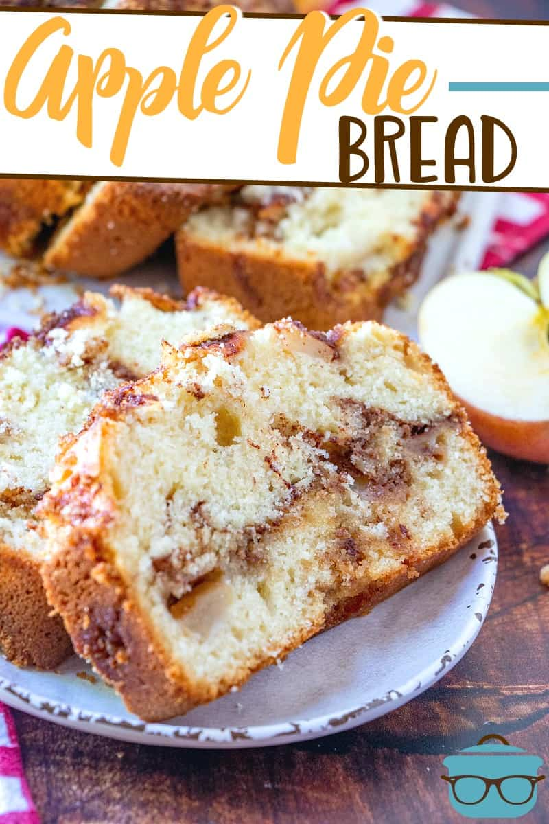 The Best Apple Pie Bread is a homemade, sweet and moist dessert bread and has a layer of yummy brown sugar with chunks of fresh apples.