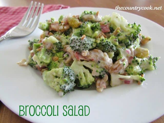 Broccoli Salad from The Country Cook