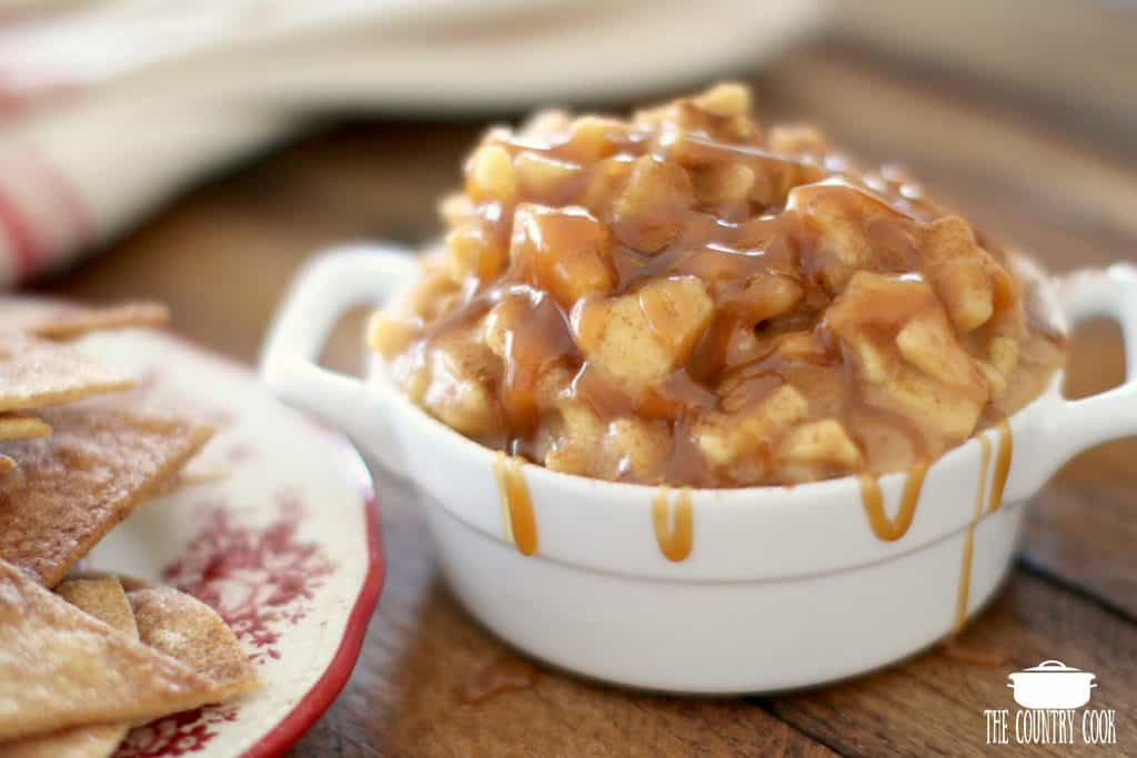 Crock Pot Caramel Apple Pie Dip