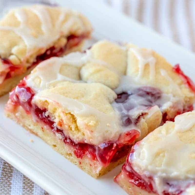 Homemade Cherry Pie Bars Video The Country Cook