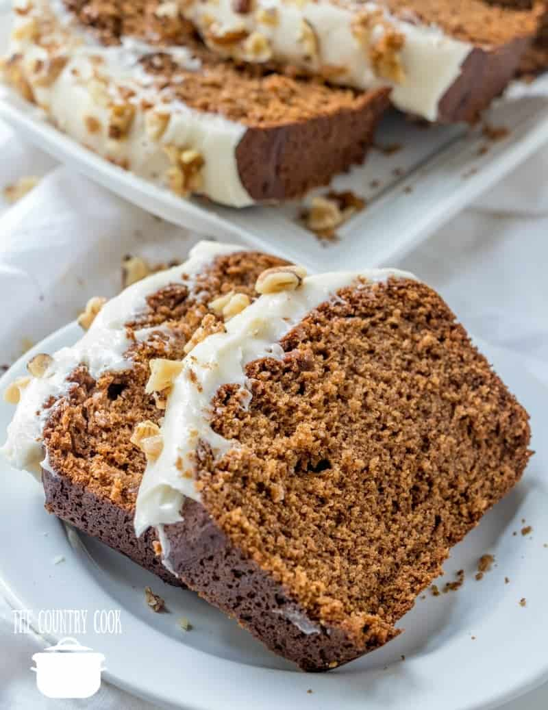 Copycat Starbucks Gingerbread Loaf With Cream Cheese Frosting The