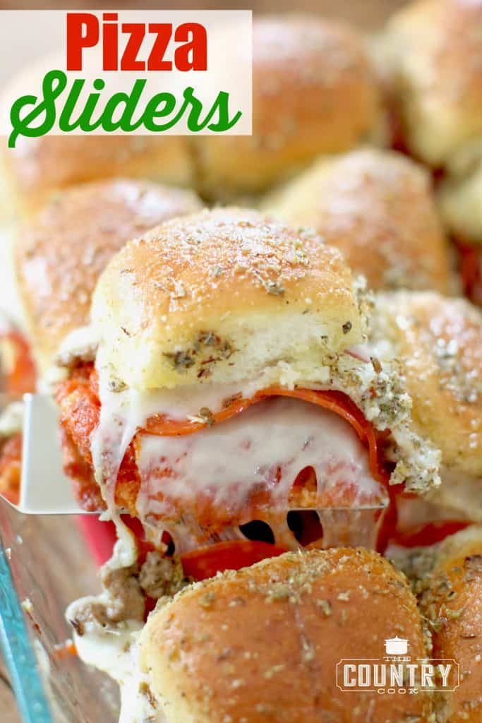 Pull Apart Pizza Sliders recipe from The Country Cook