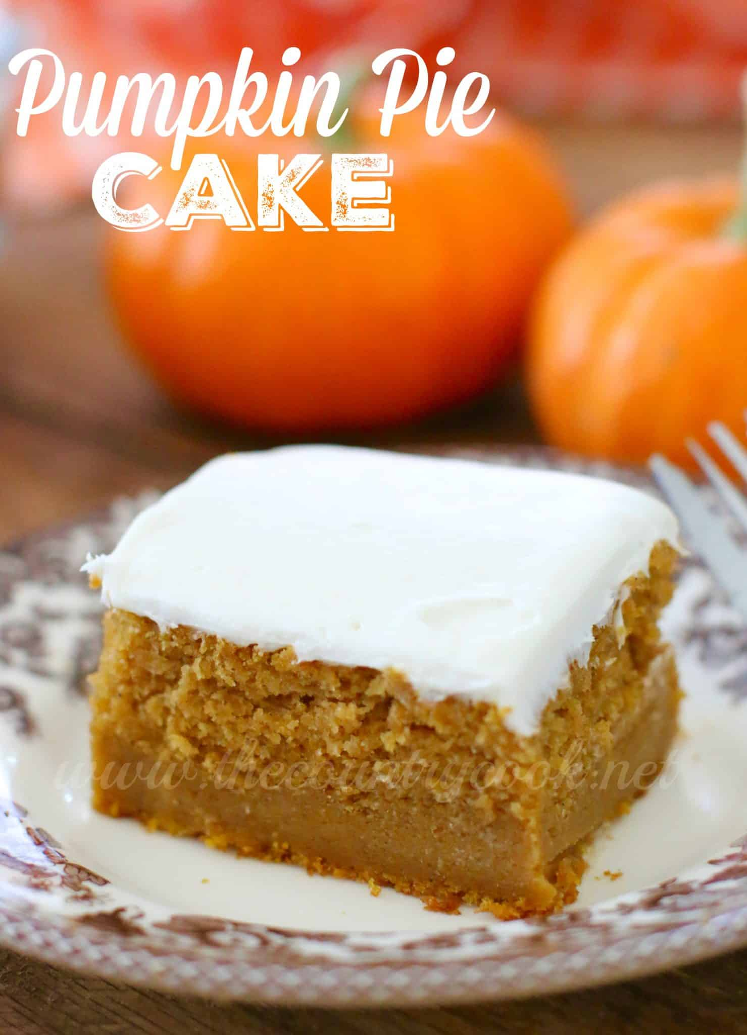 Easy Pumpkin Squares Yellow Cake