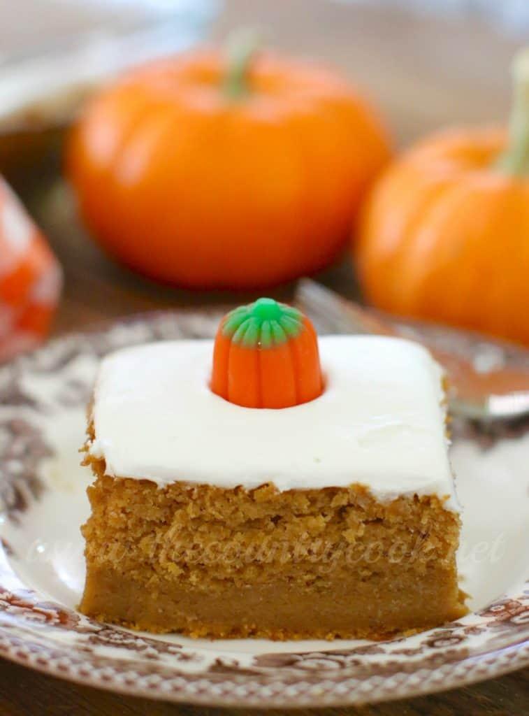 Pumpkin Squares White Cake Mix