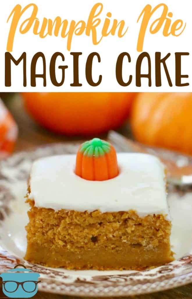 Pumpkin Pie Magic Cake recipe from The Country Cook