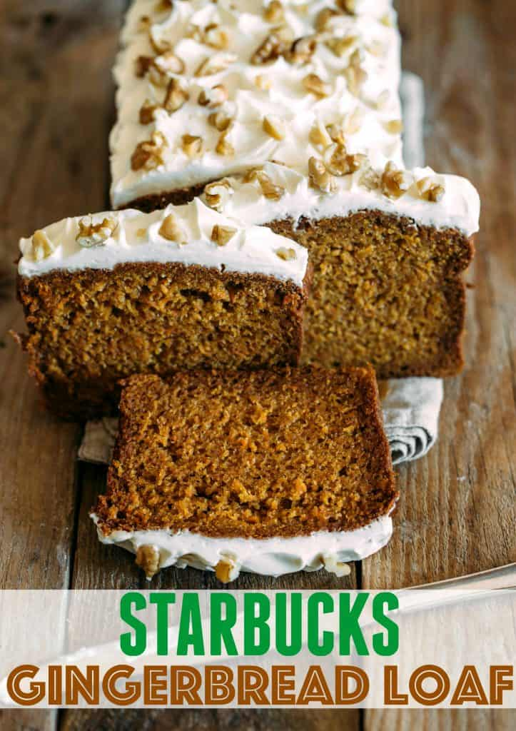 Copycat Starbucks Gingerbread Loaf