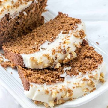 Starbuck's Gingerbread Loaf with Cream Cheese Frosting recipe