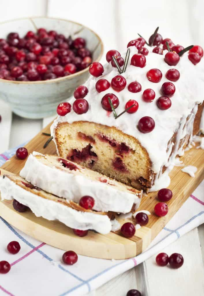 Cranberry Loaf Cake with Icing