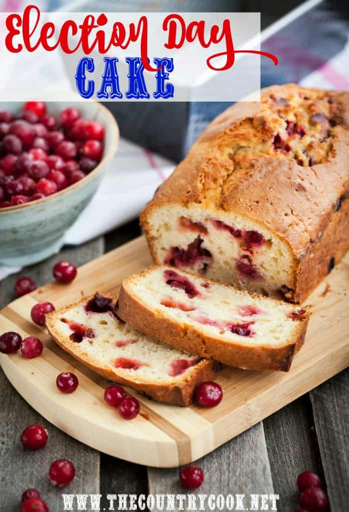 Election Day Cake (Cranberry Loaf)