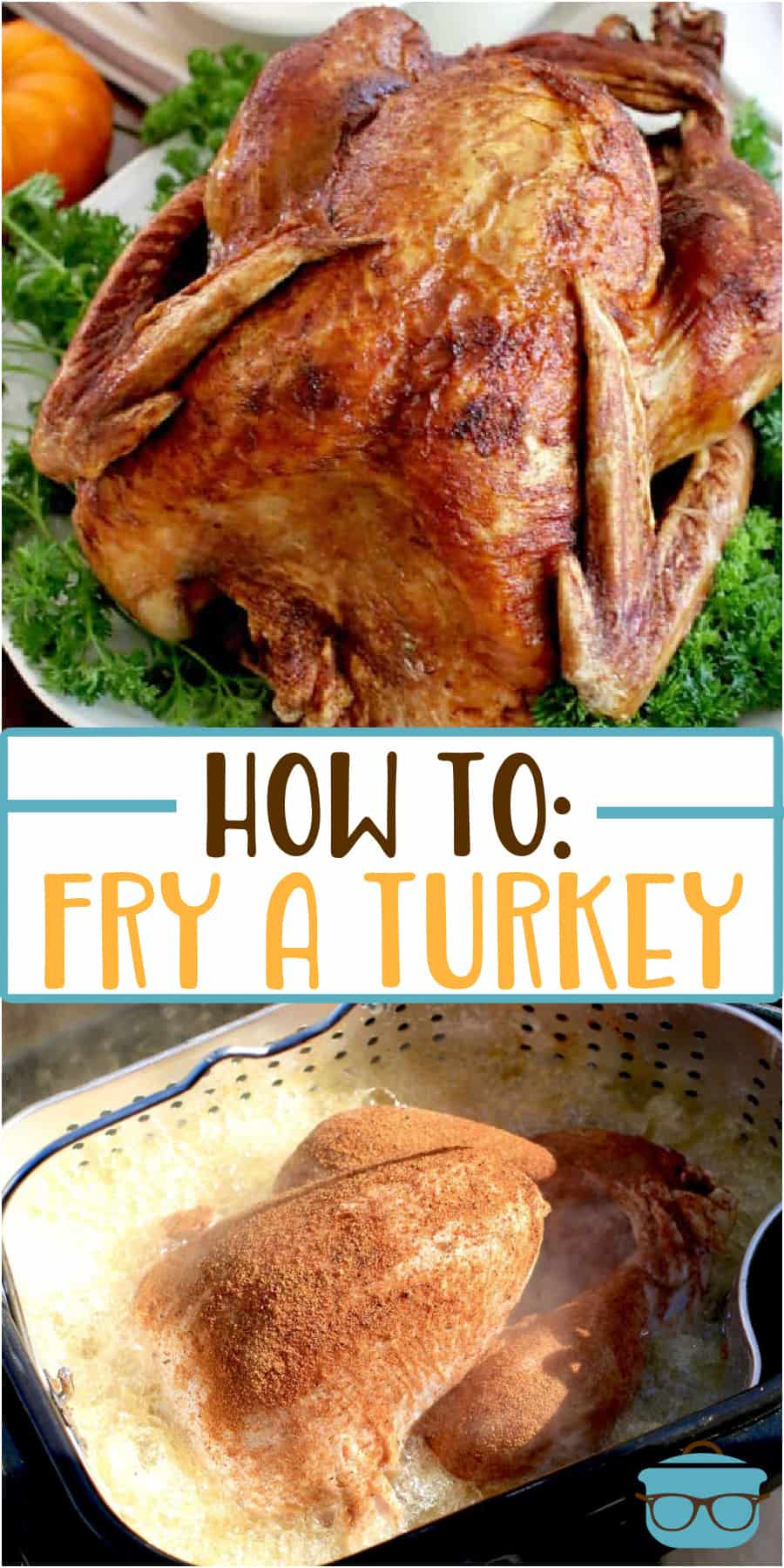 How to: Fry a Turkey (with step-by-step photos) using an electric turkey fryer. Tips given for quick-thawing a turkey and seasoning.