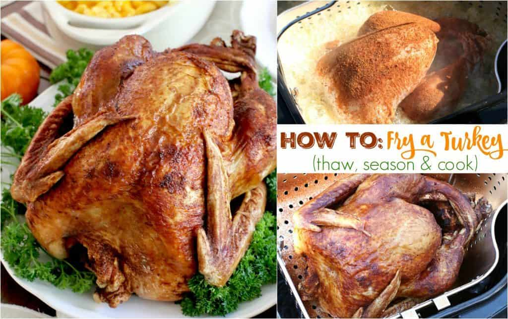 How to Fry a Turkey - tips and recipe from The Country Cook