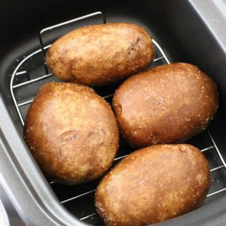Crock Pot Baked Potatoes with Thanksgiving Leftovers