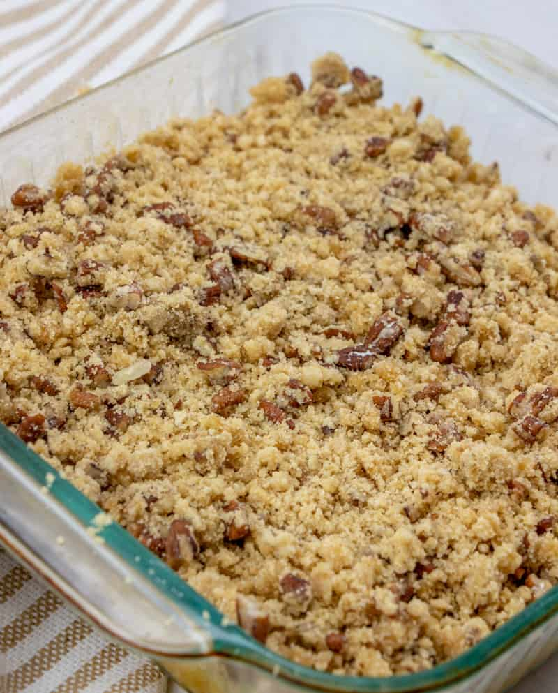 sweet potato casserole, pre-baking