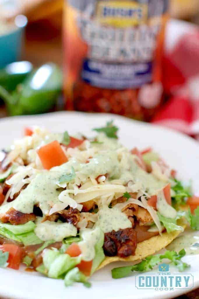 BBQ TEX-MEX TOSTADAS recipe at The Country Cook