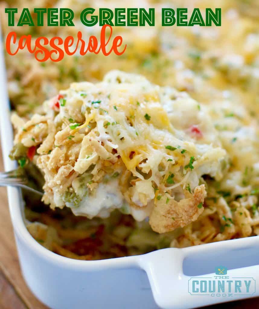 Potato Green Bean Casserole recipe from The Country Cook