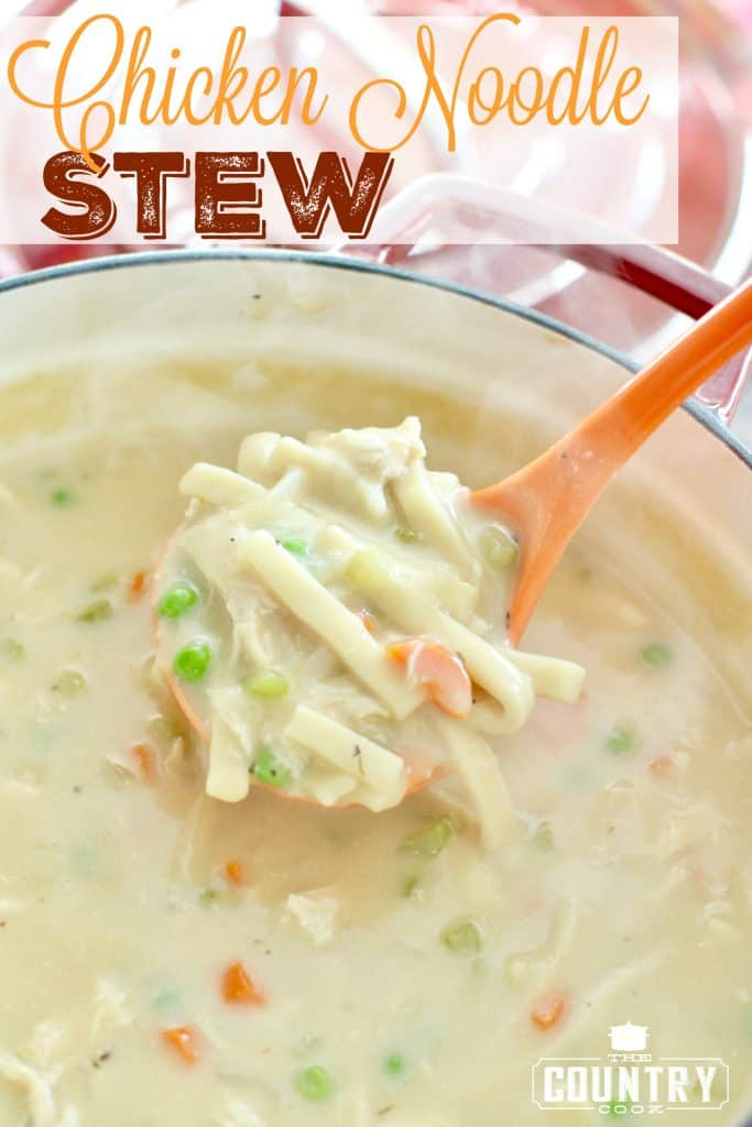 Chicken Noodle Stew recipe from The Country Cook