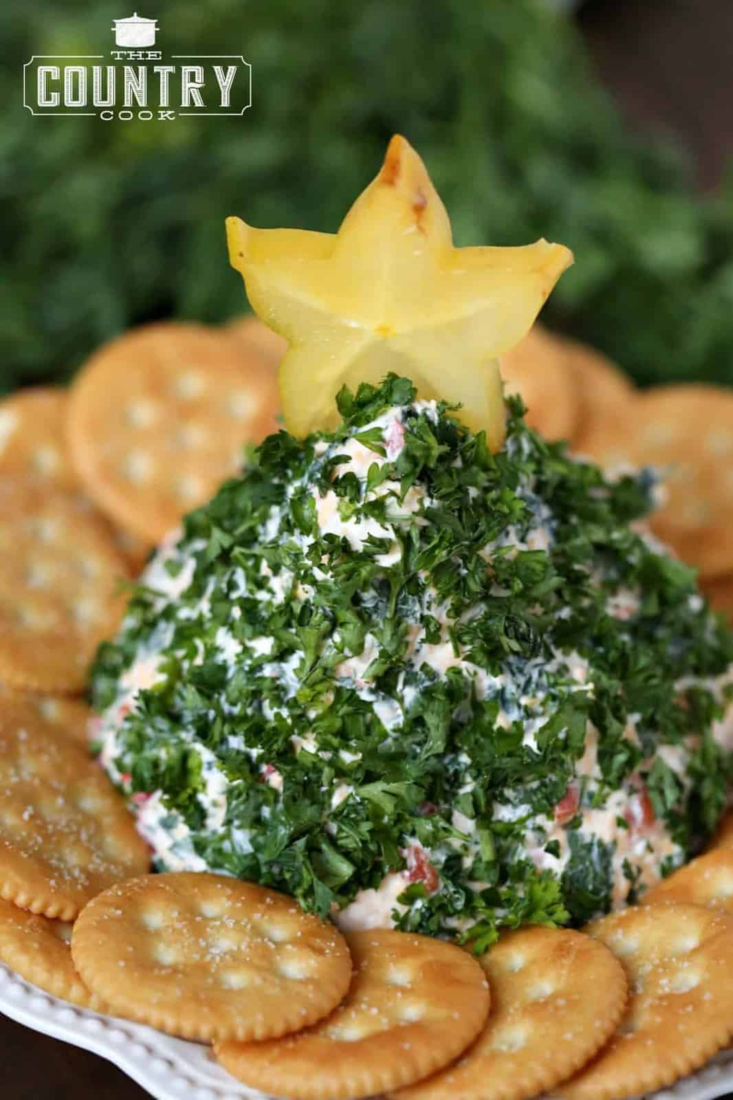 Christmas Cheese Ball.Christmas Tree Shaped Cheese Ball