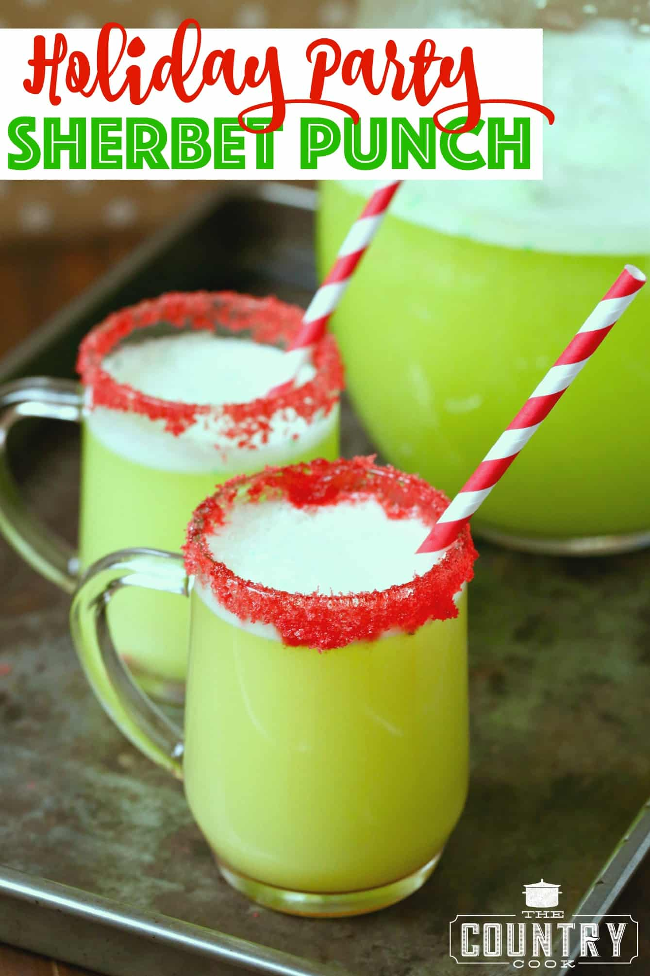 Holiday Party Sherbet Punch - The Country Cook