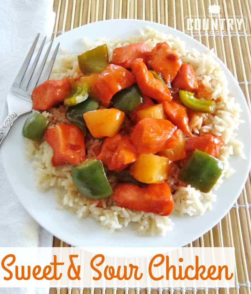 Sweet and Sour Chicken recipe from The Country Cook